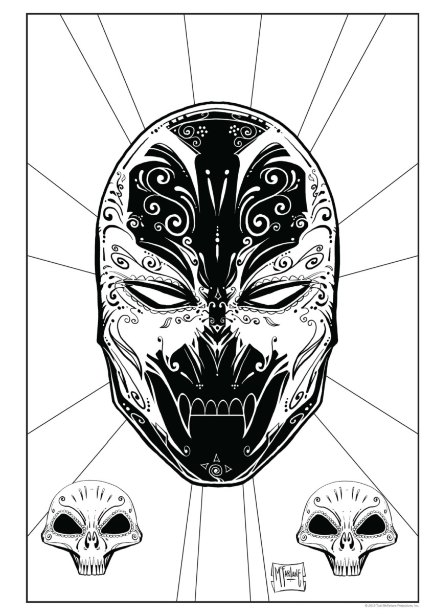 Spawn Coloring Book full Page 65