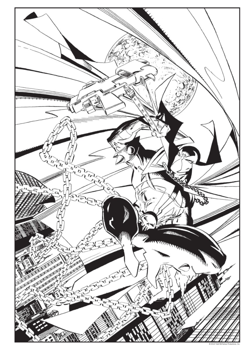 Spawn Coloring Book full Page 07