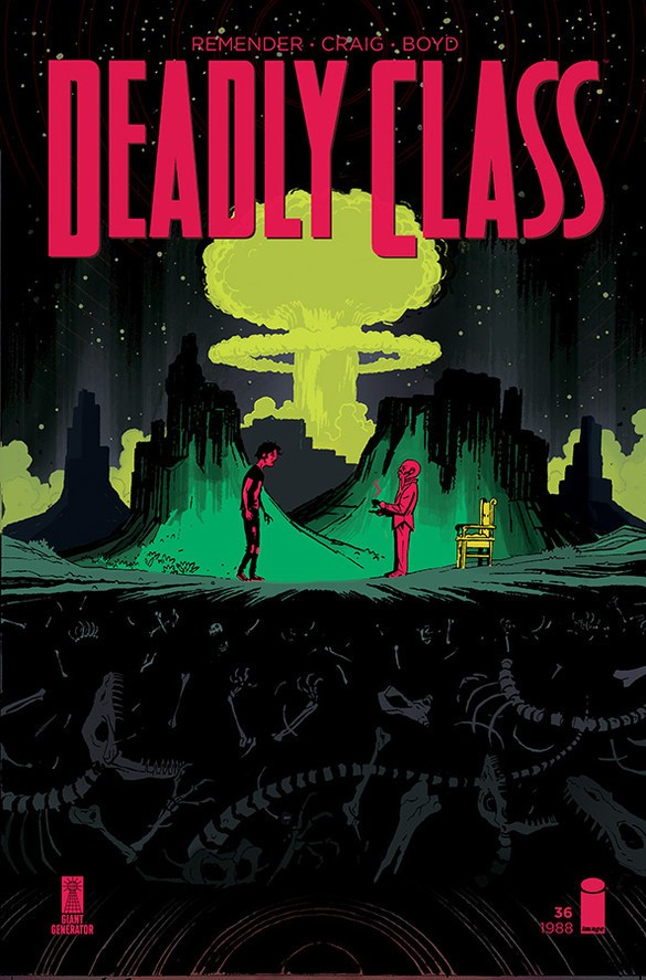 Deadly Class #36 Cover Art by Wes Craig
