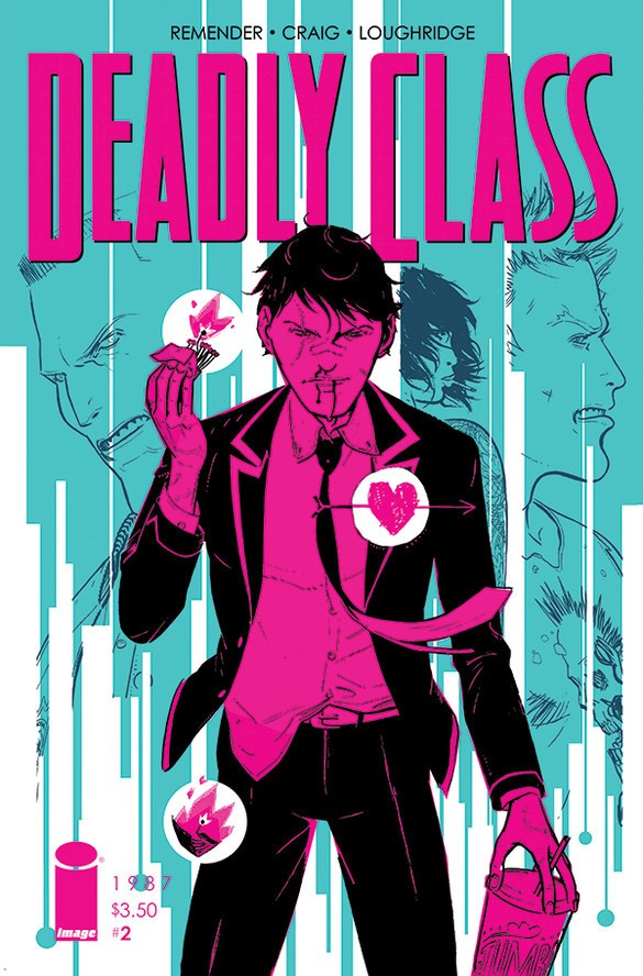 Deadly Class #2 Cover Art by Wes Craig and Lee Loughridge.