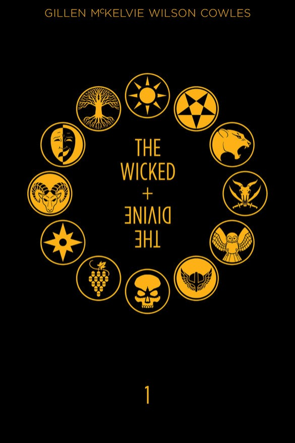 The Wicked + The Divine Cover Art by Jamie McKelvie