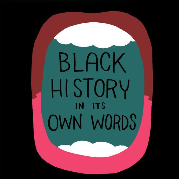 Black History In Its Own Words Cover Art by Ronald Wimberly