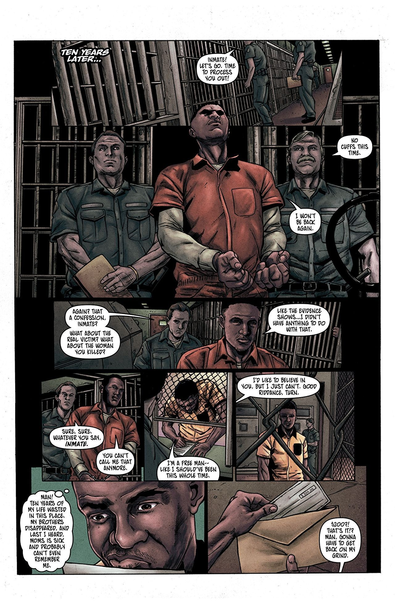 Vindication interior art by Carlos Miko and Dema Jr.
