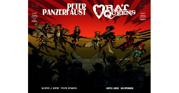 Artists from RAT QUEENS and PETER PANZERFAUST swap covers