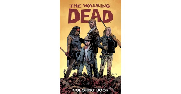 Stock up on red for THE WALKING DEAD COLORING BOOK