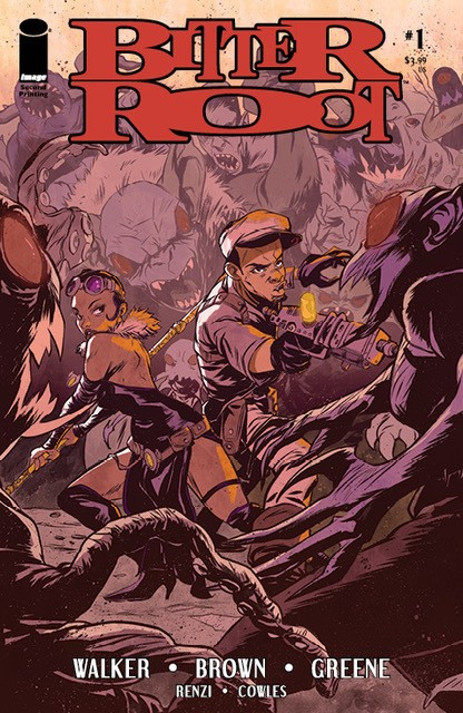 BITTER ROOT #1, 2nd printing cover art