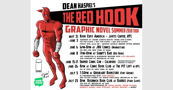 THE RED HOOK preview pages revealed and Summer Tour announced