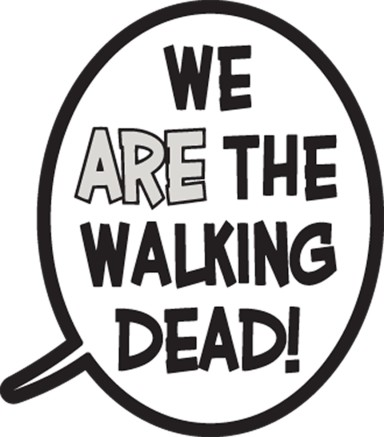 The Walking Dead Balloon Pin - WE ARE THE WALKING DEAD