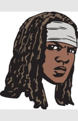 The Walking Dead Michonne Face Pin