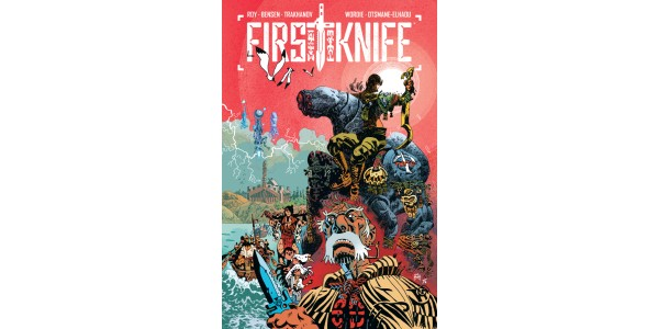 EYE-MELTING ACTION SERIES PROTECTOR TO BE RETITLED FIRST KNIFE & COLLECTED INTO TRADE PAPERBACK THIS OCTOBER