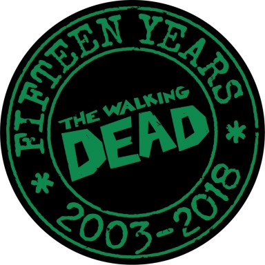 The Walking Dead 15th Anniversary Pin