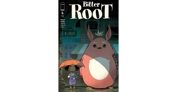 SANFORD GREENE PAYS HOMAGE TO MY NEIGHBOR TOTORO IN UPCOMING BITTER ROOT VARIANT COVER